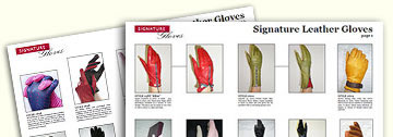 view and print the Signature Gloves linesheet